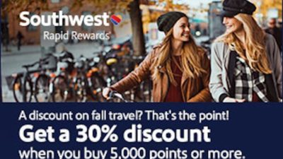 30% BONUS Southwest Rapid Rewards at Points.com