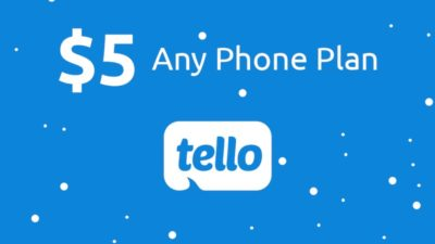 $5 First Month Service DEAL at Tello