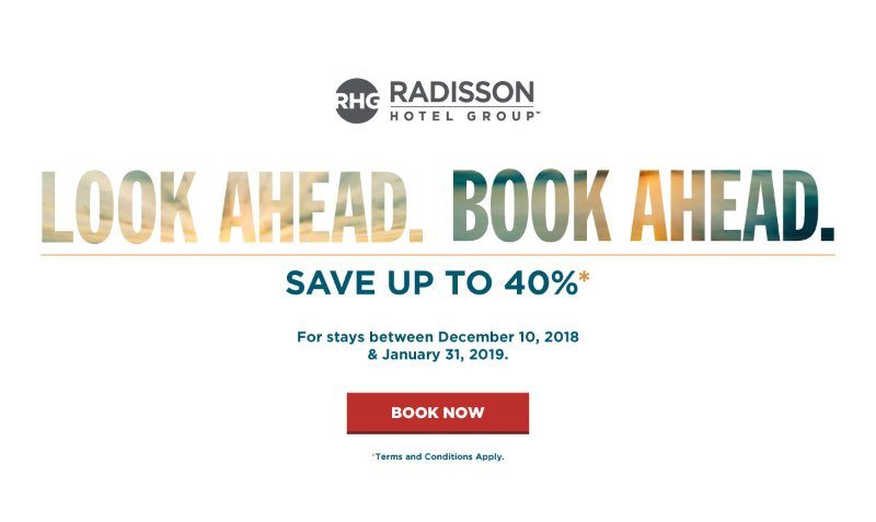 BIGGER SAVINGS HAPPEN WHEN YOU BOOK RIGHT NOW: GET UP TO 40% OFF