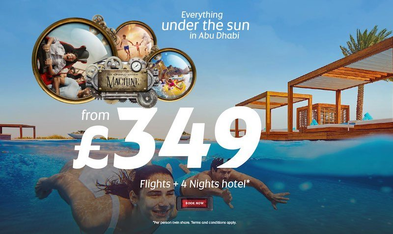 Book an incredible 4-Night Stay in Abu Dhabi, including Economy Flights, from just £349pp.