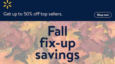 Shop Great Savings for Fall at Walmart.com