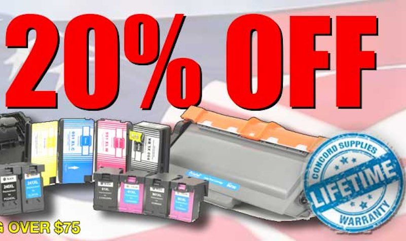 20% Off Discount Coupon at Concord Supplies