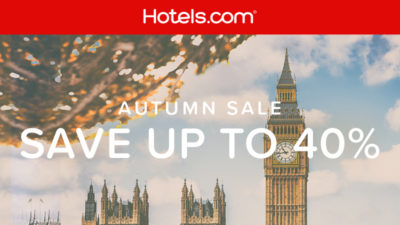 40% Off Autumn SALE at Hotels.com Middle East