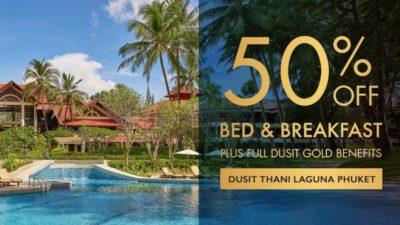50% off Bed & Breakfast at Dusit Thani Laguna Phuket