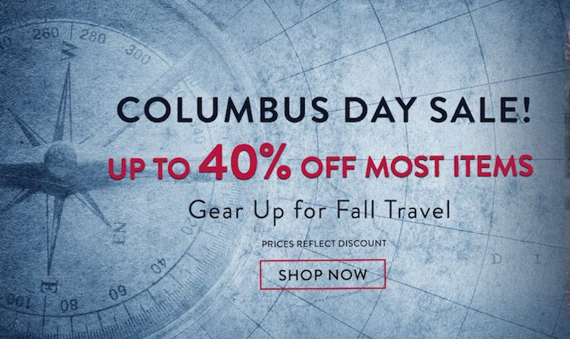 Columbus Day SALE at American Tourister