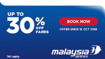 30% Off UK Autumn SALE at Malaysia Airlines