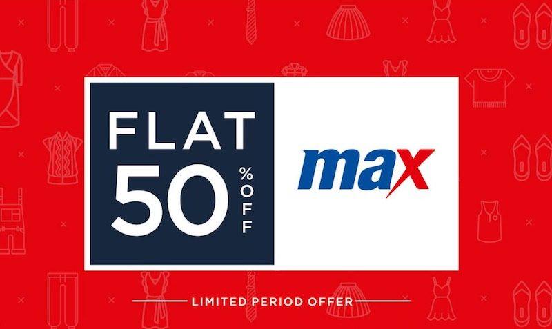 Discount Coupon at Maxfashion