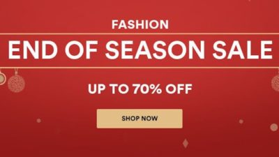 Get Up to 70% on Fashion End of Season Sale at Souq.com UAE