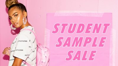 PLT STUDENT SAMPLE SALE at PrettyLittleThing