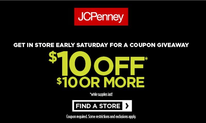 $10 Off Discount Coupon at JCPenney