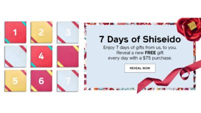 7 Days of Shiseido. Enjoy 7 days of gifts from us, to you.