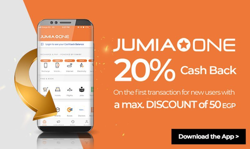 Download Jumia One app and get 20% cashback on all your airtime and mobile bills purchases.