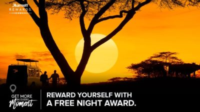 FREE Award NIGHT at Marriott Hotels