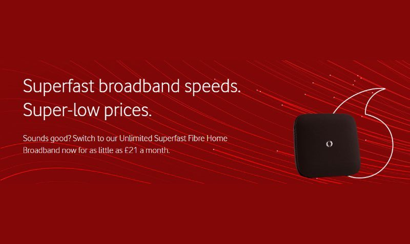 Fibre Optic Broadband Offer Change Vodafone
