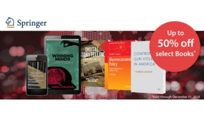 Scholarly SALE at Springer Shop