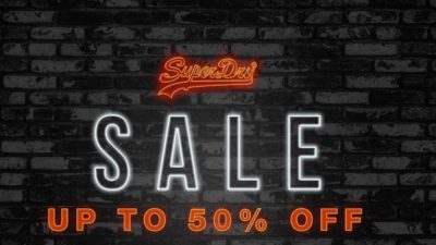 Superdry launched their sale with savings of up to 50% off!