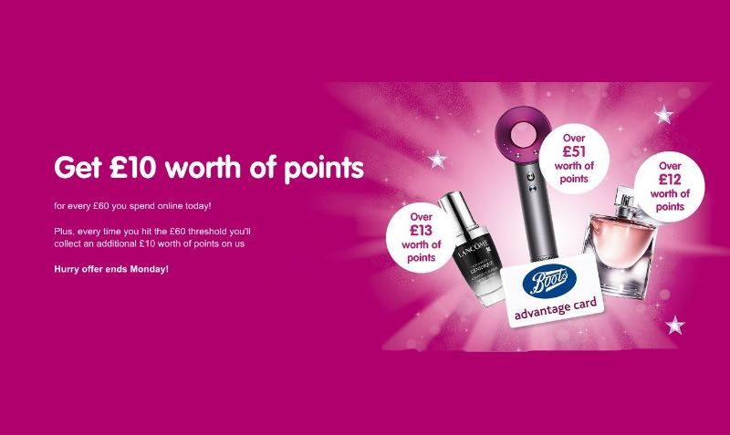 boots advantage points
