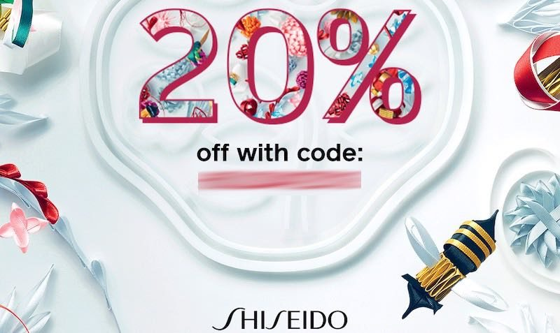 20% off your purchase with code at Shiseido