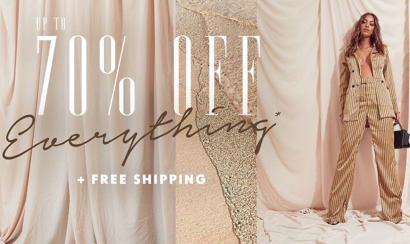 70% OFF Discount SALE at PrettyLittleThing