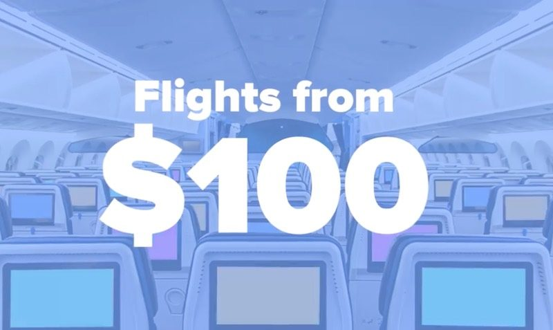 Flights from $100 DEALS at Airfarewatchdog