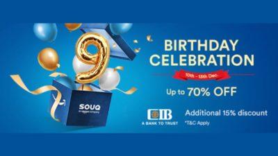 SOUQ's 9th birthday celebration sale