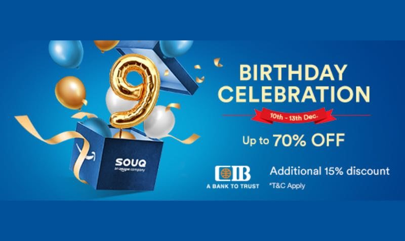 SOUQ's 9th birthday celebration sale