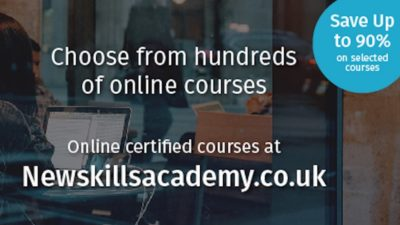 90% OFF Selected Courses at New Skills Academy