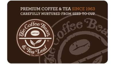 Giftcard with Purchase at Coffee Bean and Tea Leaf