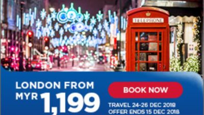 SALE at Malaysia Airlines from Kuala Lumpur