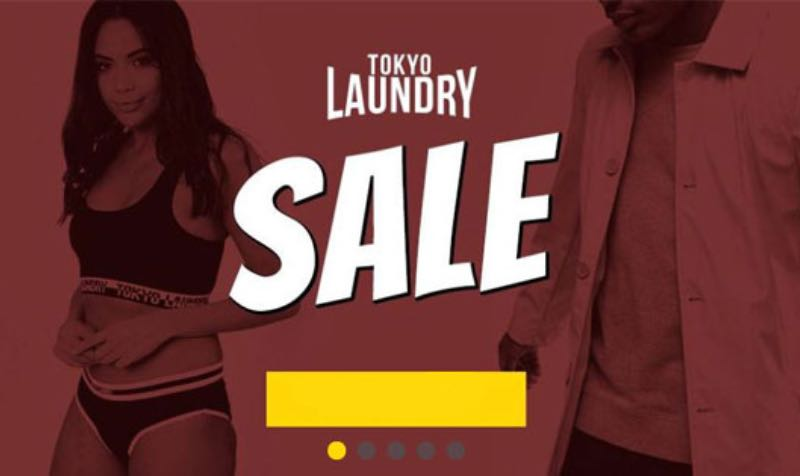 Tokyo Laundry SALE Offer Deal promo code