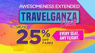 Malaysia Airlines Travelganza! Get 25% off EVERY seat for ANY flight!