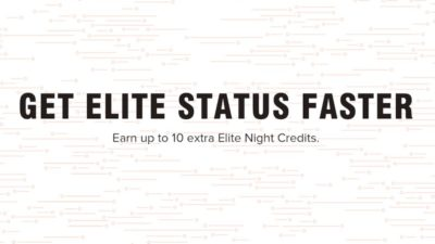 EXTRA 10 Elite Night Credits DEAL at Marriott Hotels