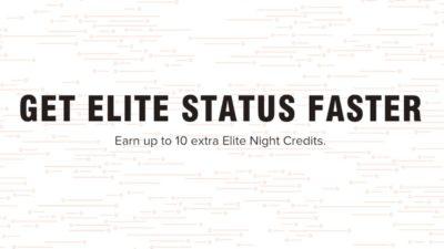EXTRA 10 Elite Night Credits DEAL at Marriott Hotels