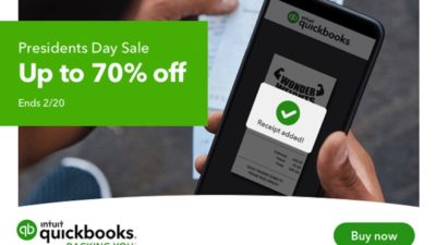 President's Day Sale 70% off QuickBooks Payroll