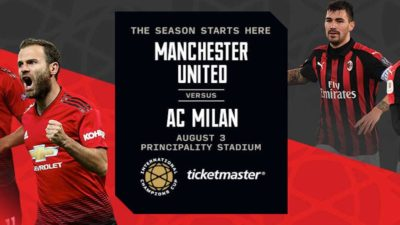 International Champions Cup- Manchester United V AC Milan Banner