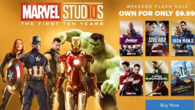 Marvel Flash Sale on FandangoNOW
