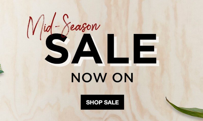 Up to 50% off The Hut in our Mid-Season Sale!!