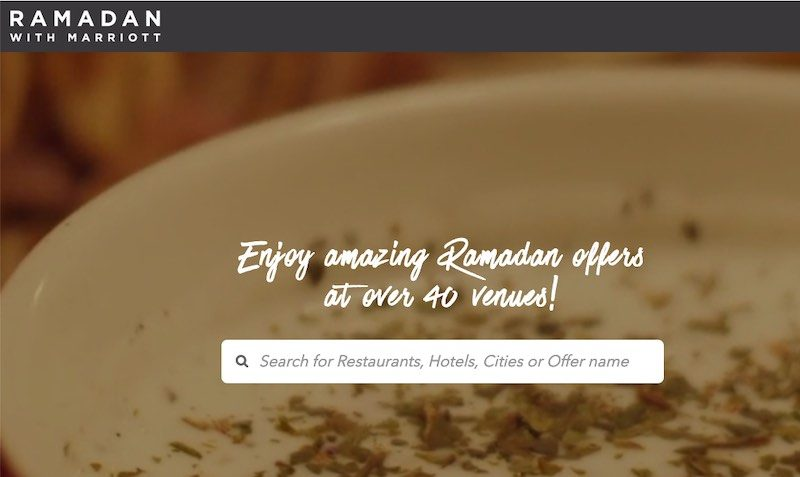 Over 40 Ramadan DEALS at Marriott Hotels