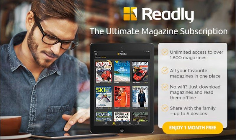 £1 SALE at Readly