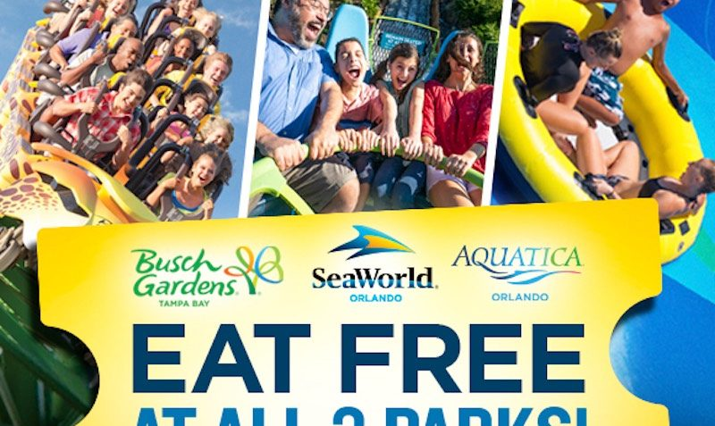 EAT FREE Discount SALE at SeaWorld and Busch Gardens