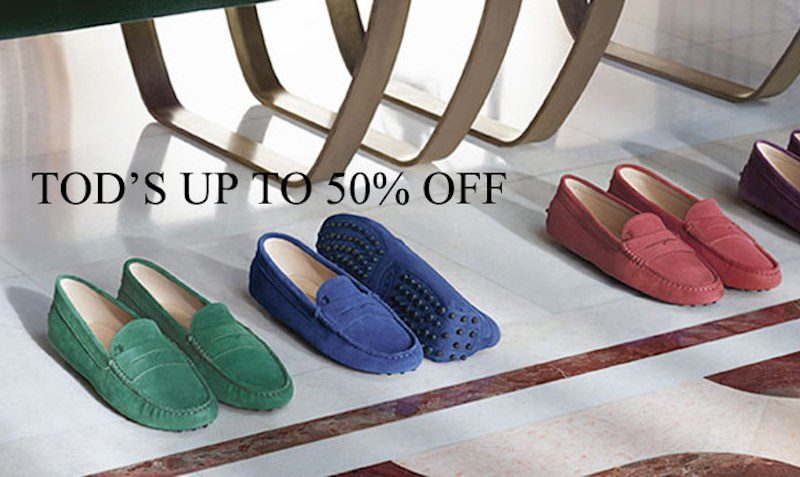 Tod's Sale of up to 50% off.
