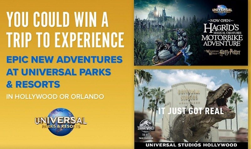 Universal Parks & Resorts Sweepstakes at FandangoNOW