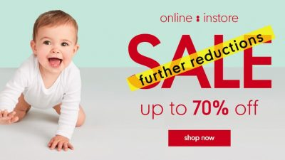 70% Off SALE at Mothercare Indonesia