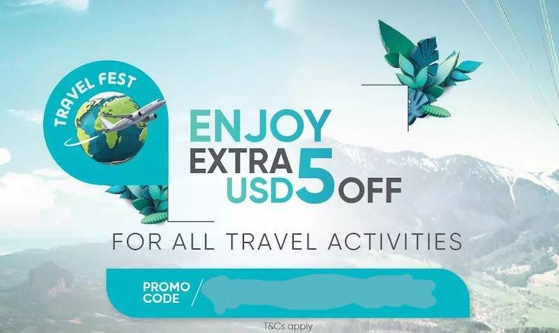 Grab extra USD5 OFF for all travel activities at KKday