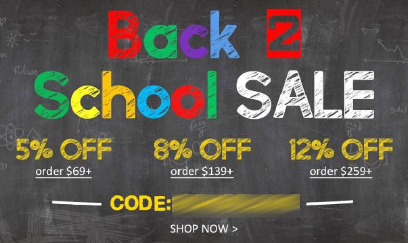 Back to School Discount Coupon at LovelyWholesale