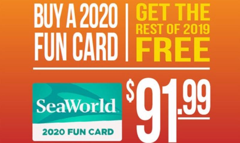 Buy a 2020 SeaWorld San Diego Fun Card and Get the Rest of 2019 FREE (includes 2 Single-Use Quick Queues)