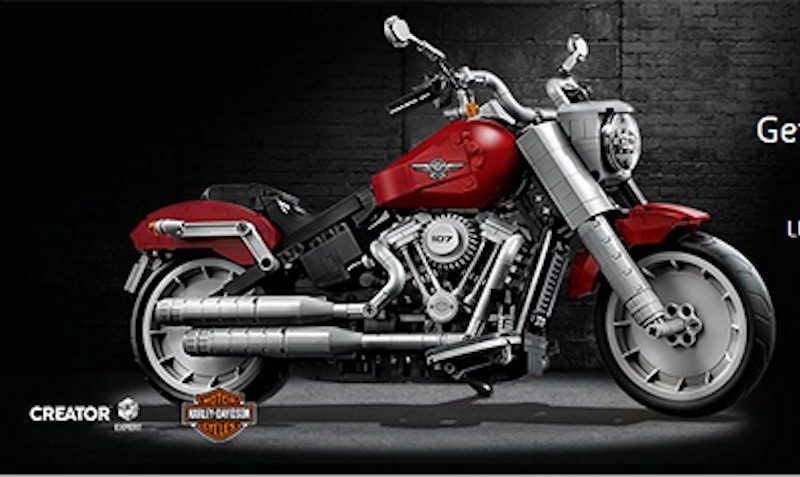 Check out the LEGO Exclusive Harley-Davidson Fat Boy set available now!