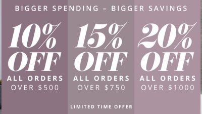Discount SALE at Hudson Reed