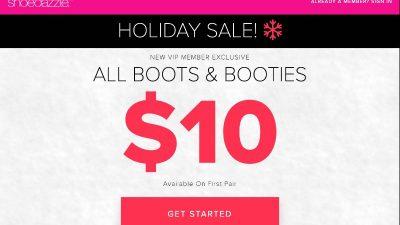 Sale at Shoedazzle