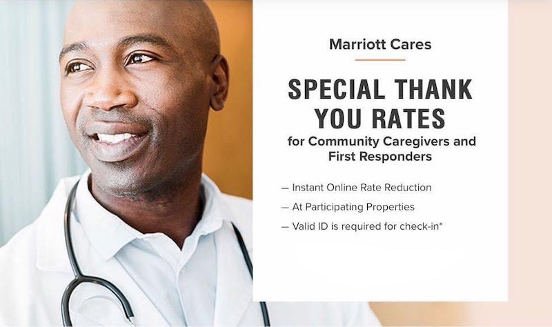 SPECIAL THANK YOU RATES for Community Caregivers and First Responders SALE at Marriott